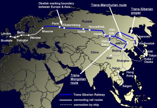 Trans Siberian map